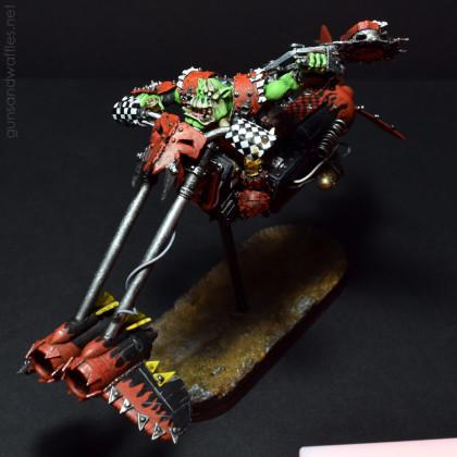 Ork Waaaghboss on Custom Jetbike