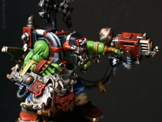 Ork Mek with magnetized Buzzsaw