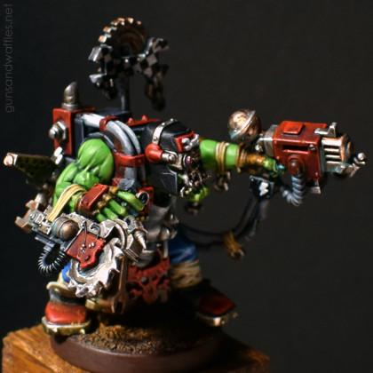 Ork Mek with magnetized Buzzsaw