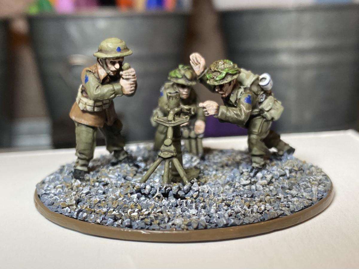 """WW2 Canadian 3"""" Mortar Team"""
