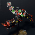 Ork Waaaghboss on Custom Jetbike